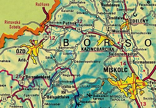 Térkép Miskolc és Környéke